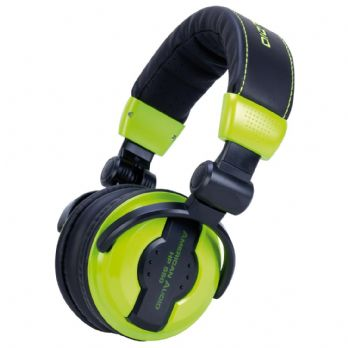 American Audio HP 550 Lime Professional High Powered DJ Headphones
